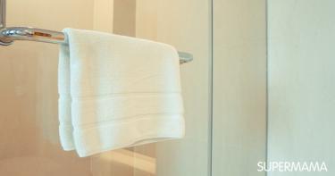 ترتيب الحمام - مناشف الاستحمام