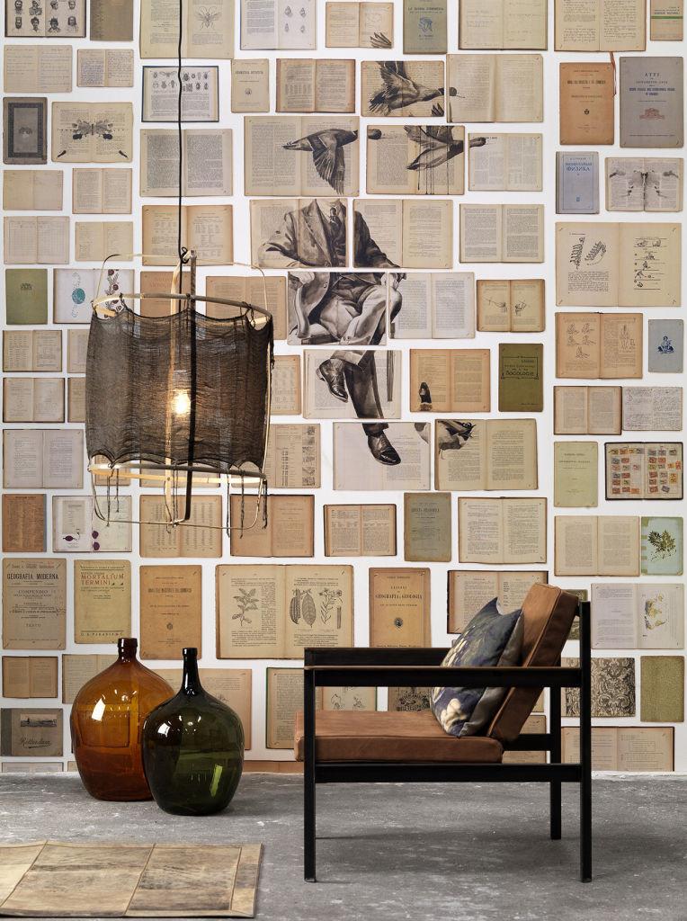 أفكار ديكور منزلية - ورق حائط من الكتب