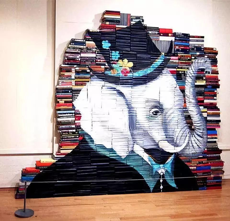 أفكار ديكور منزلية - لوحة من الكتب