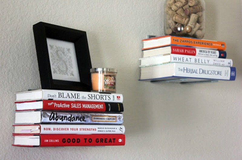 أفكار ديكور منزلية - رف من الكتب