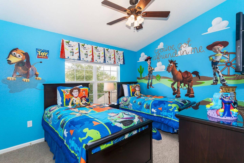 أفكار لغرف الأطفال - غرف مستوحاة من أفلام الكرتون