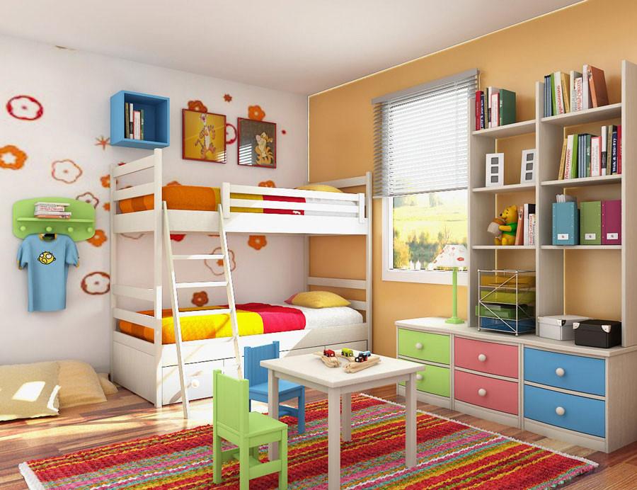 أفكار لغرف الأطفال - وحدات تخزينية للغرف