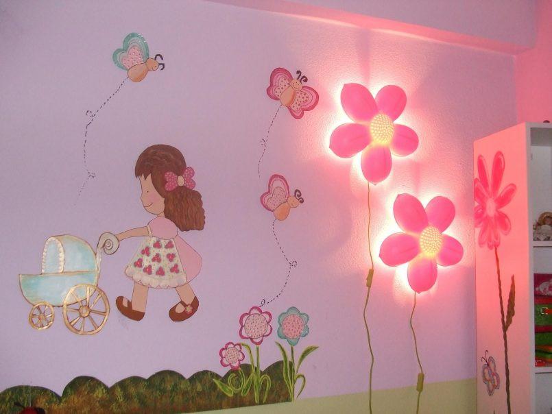أفكار لغرف الأطفال - رسومات ووحدات إضاءة للغرف
