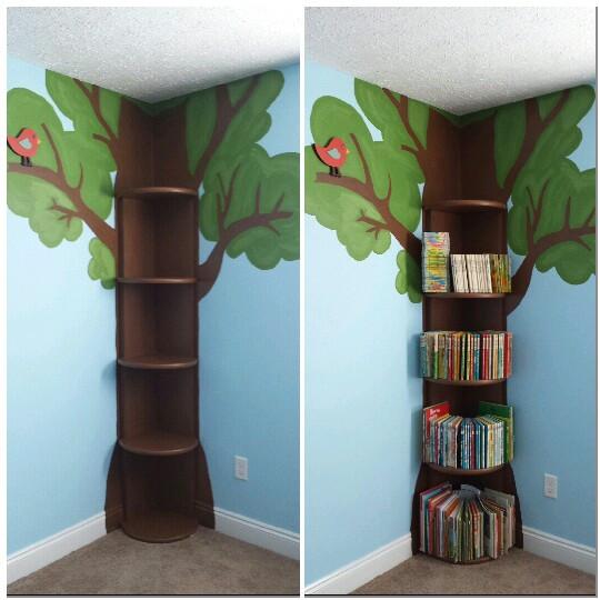 أفكار لغرف الأطفال - أرفف كتب للغرف