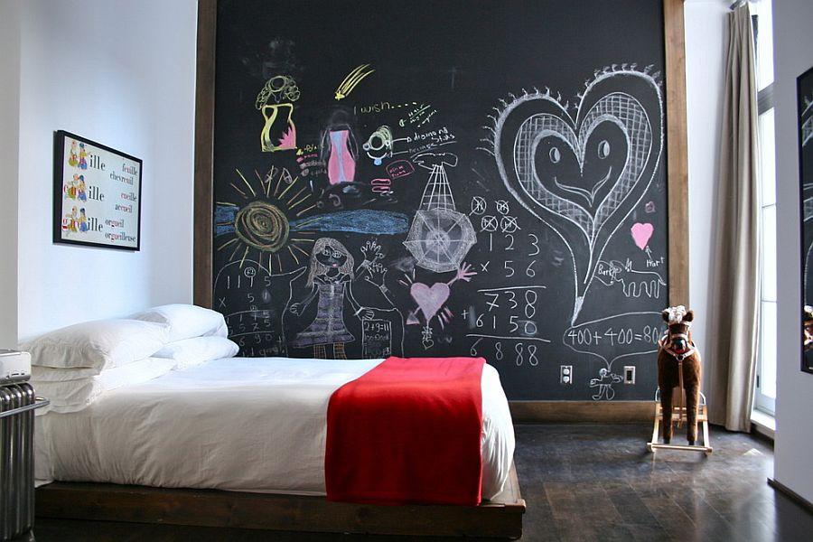 أفكار لغرف الأطفال - لوحة كتابة للغرفة
