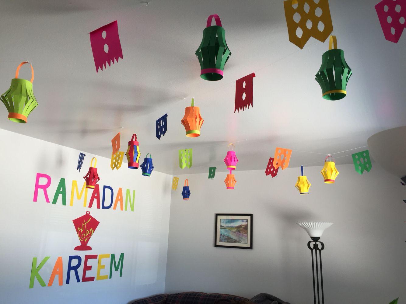 زينة رمضان في البيت-فوانيس ورقية