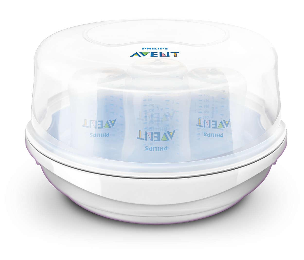 جهاز تعقيم زجاجات الرضاعة بالميكروويف من Avent