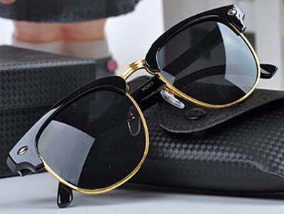 نظارات شمس - نظارة شمسية باللون الأسود والذهبي