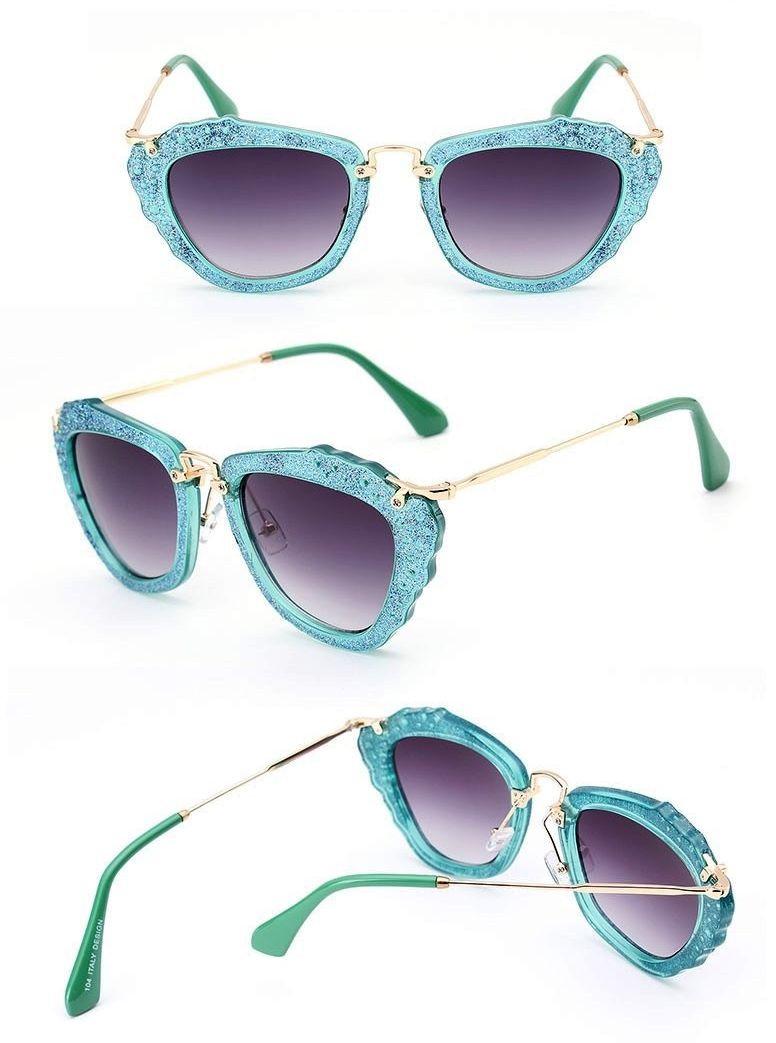 نظارات شمس - نظارة شمسية باللون الأخضر