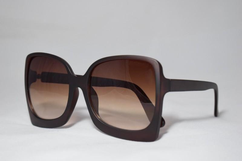 نظارات شمس - نظارة شمسية بإطار بني