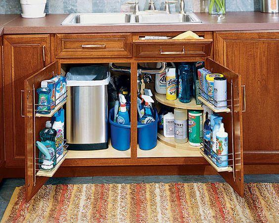 منتجاتلتنظيم المطبخ - حوامل تخزين المنظفات