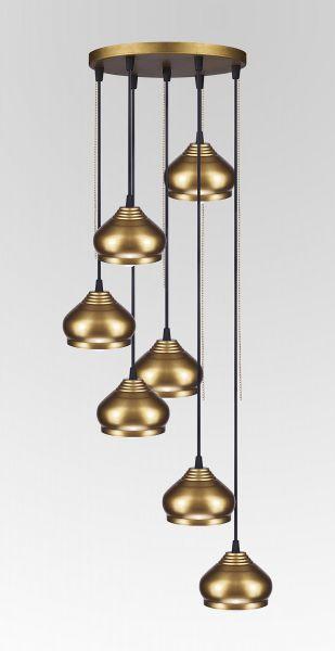 أشكال الإضاءة المنزلية - نجف نحاسي مودرن