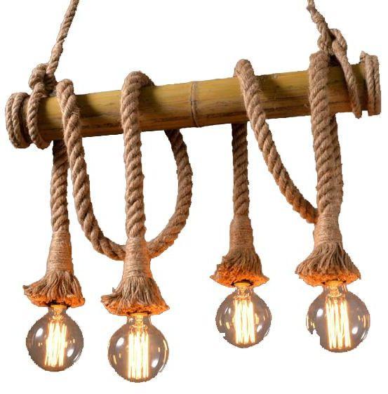 أشكال الإضاءة المنزلية - نجف خشب مودرن