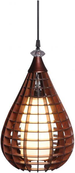 أشكال الإضاءة المنزلية - نجفة خشب كبيرة