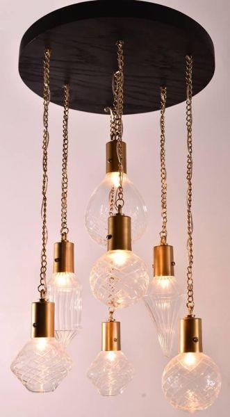 أشكال الإضاءة المنزلية - نجف زجاج مودرن