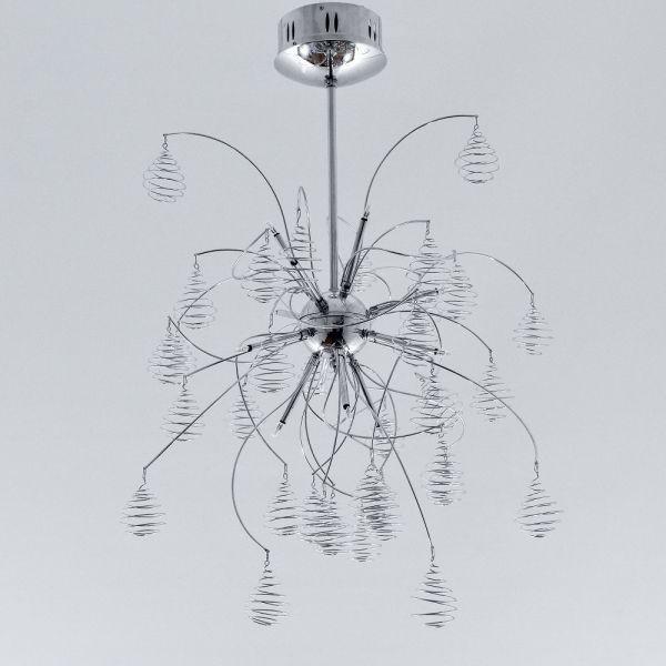 أشكال الإضاءة المنزلية - نجف زجاج