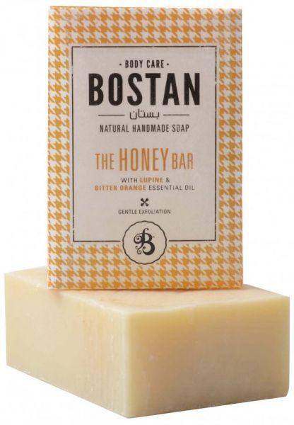 صابون طبيعي للبشرة - صابونة البستان الطبيعية بالعسل والترمس