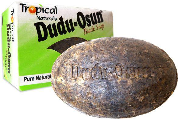 صابون طبيعي للبشرة - الصابونة السوداء الأفريقية الطبيعية Dudu-Osun