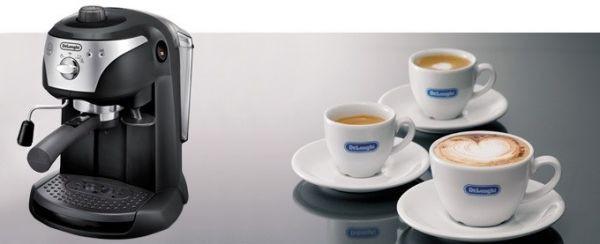 أفضل ماكينات صنع القهوة - ماكينة صنع إسبريسو وقهوة EC221 من ديلونجي 1.4 لتر