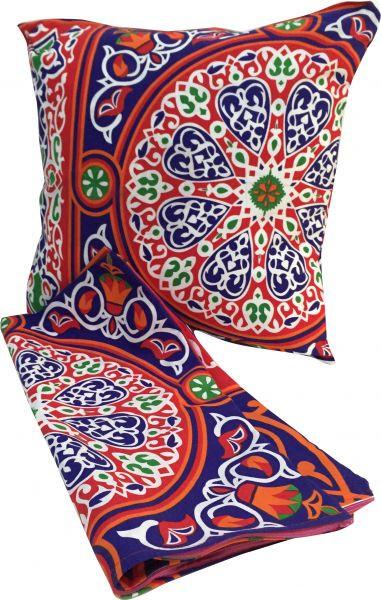 تزيين المنزل في رمضان - أكياس مخدات الكنب والكراسي بأقمشة الخيامية