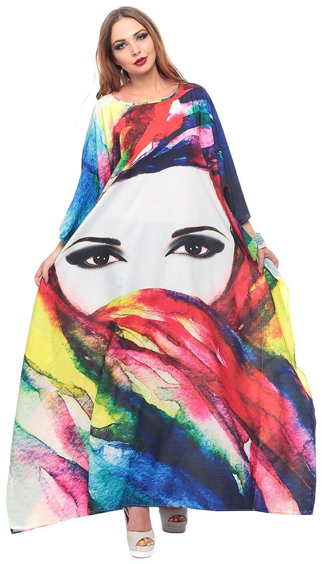 ملابس رمضانية - قفطان ملون