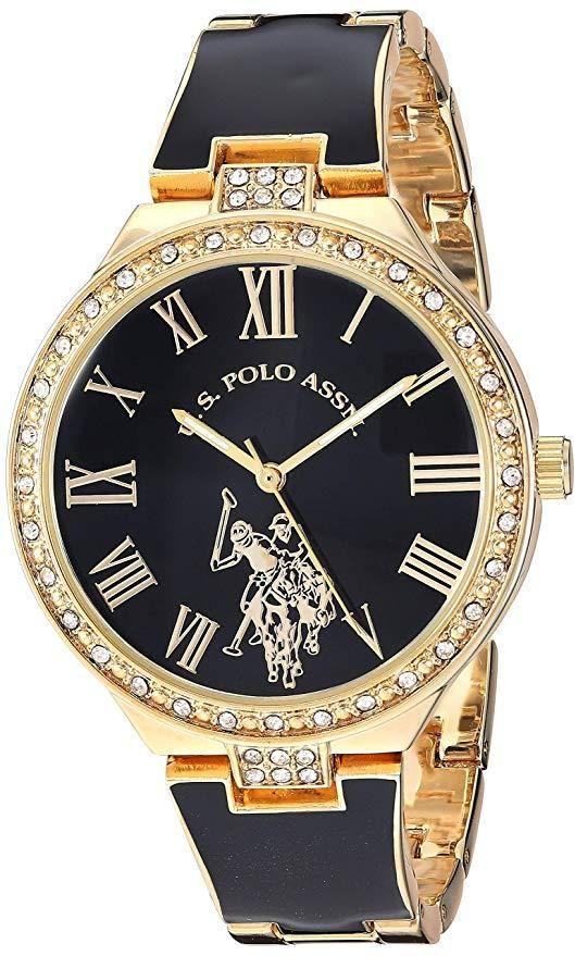 أفضل الساعات النسائية - ساعة بولو اسن ذهبية اللون USC40320
