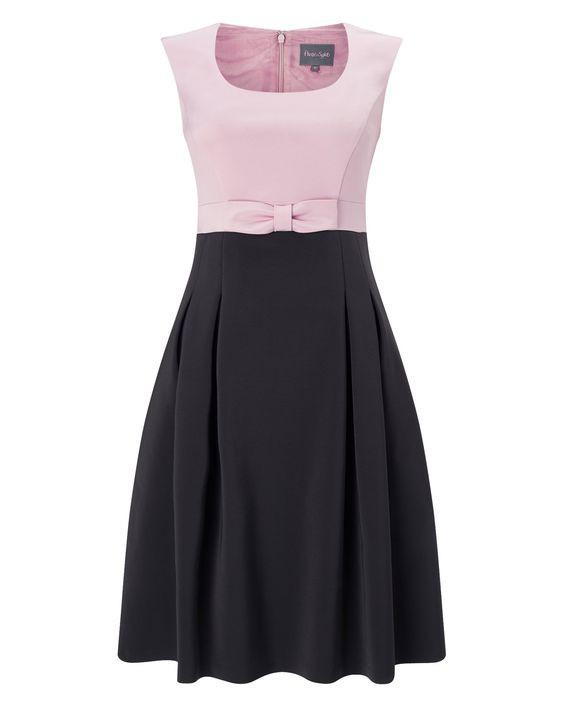 فستان-وردي-مع-الاسود