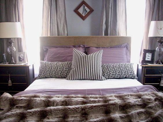 ديكور منزل بنفسجي - غرفة نوم بنفسجي