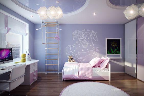 ديكور منزل بنفسجي - غرفة أطفال بنفسجي