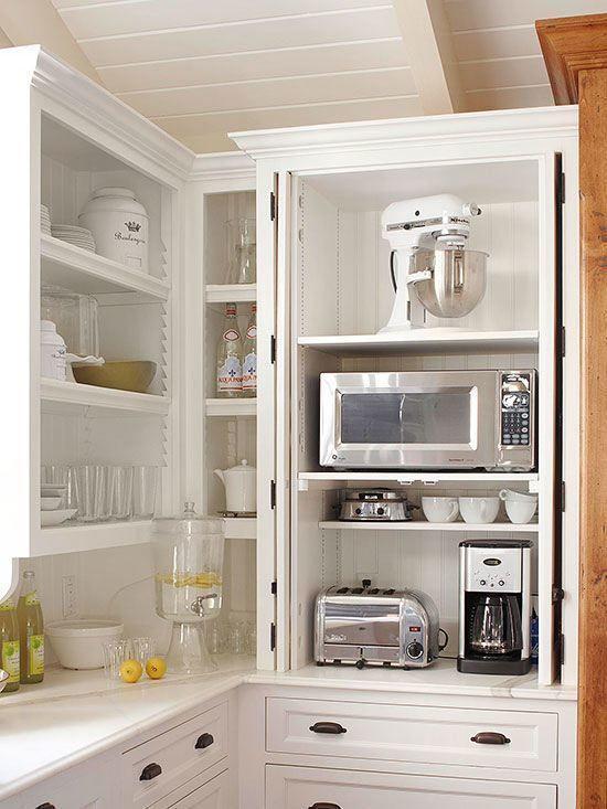 تقسيم خزائن المطبخ - أجهزة المطبخ الكهربائية