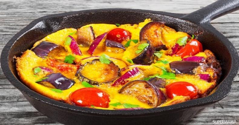 وصفات بيض للفطور - طريقة عمل أومليت الباذنجان