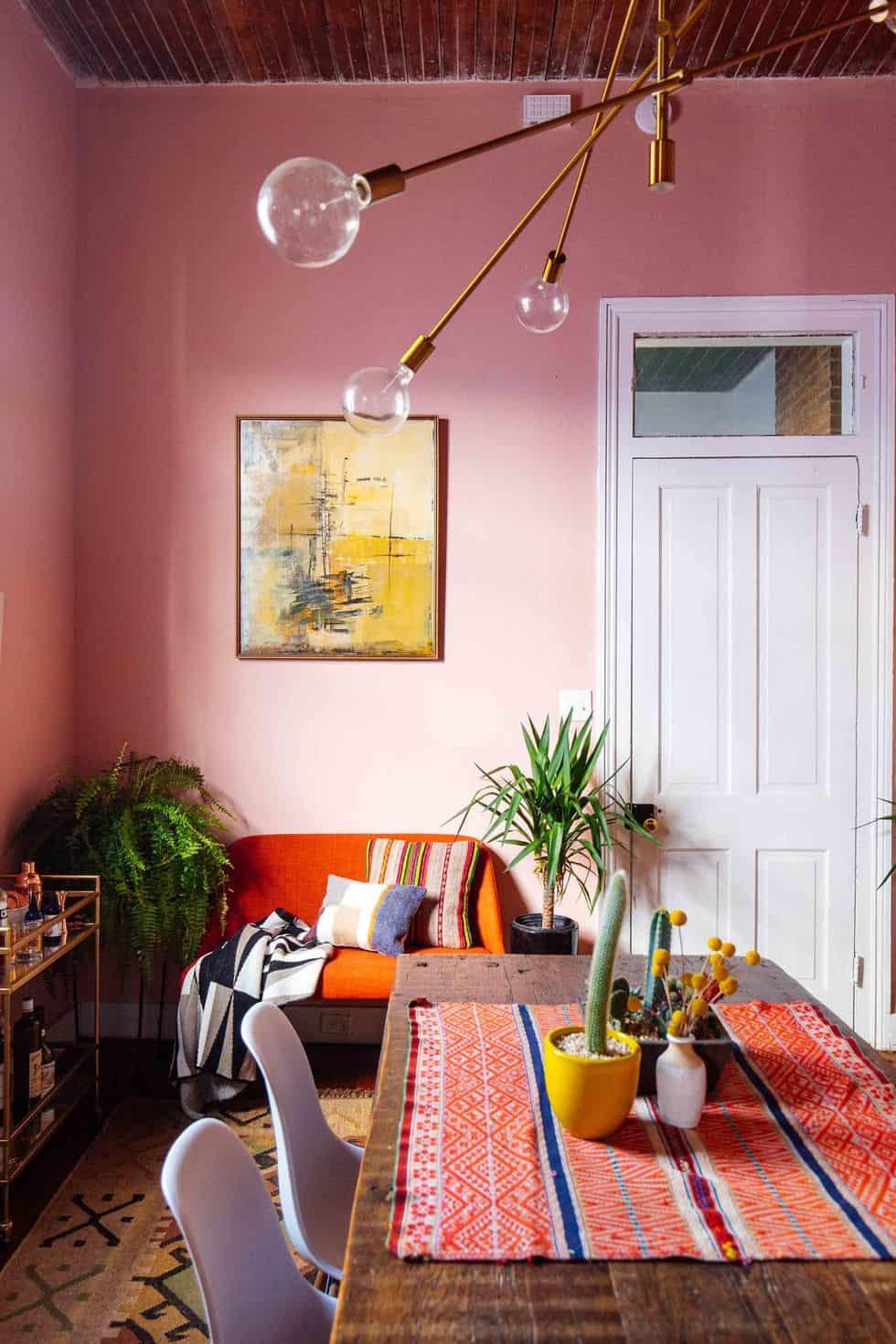 تنسيق ألوان ديكور المنزل - ألوان طلاء الجدران