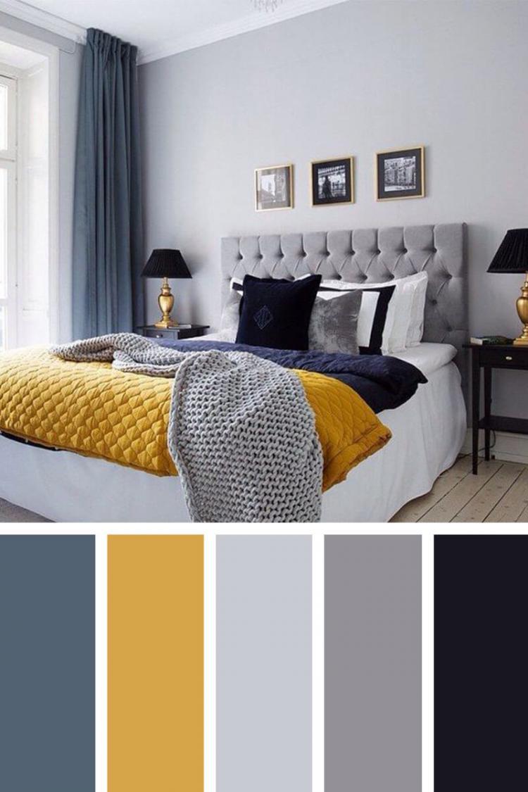 تنسيق ألوان ديكور المنزل - اللون الأزرق مع المسطردة