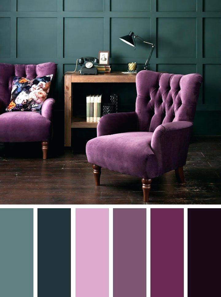 تنسيق ألوان ديكور المنزل - تنسيق اللون البنفسجي في الأثاث