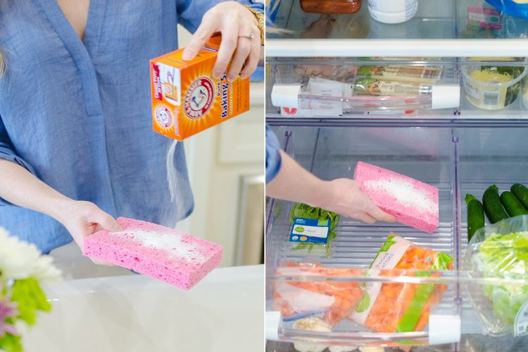 إسفنجة الأطباق - التخلص من رائحة الثلاجة