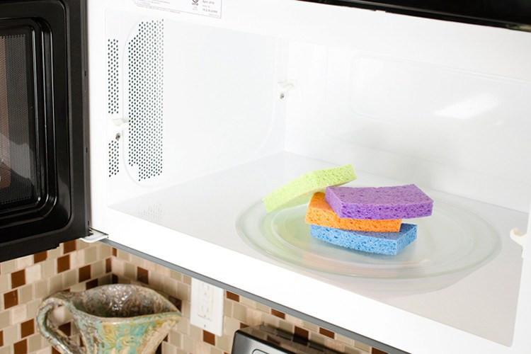 إسفنجة الأطباق - تعقيم إسفنجة المطبخ