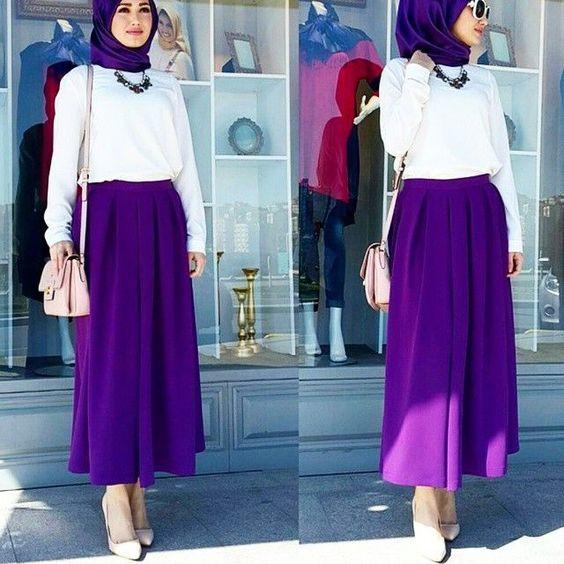 اختيار لون الحجاب المناسب - تنسيق الحجاب مع القطعة السفلية