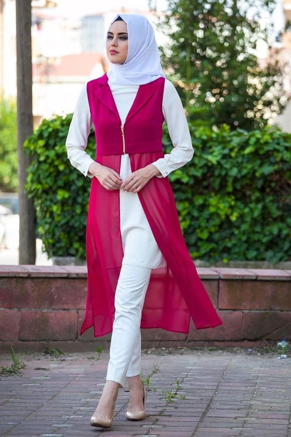 اختيار لون الحجاب المناسب - تنسيق لون الحجاب مع القطعة البيزك