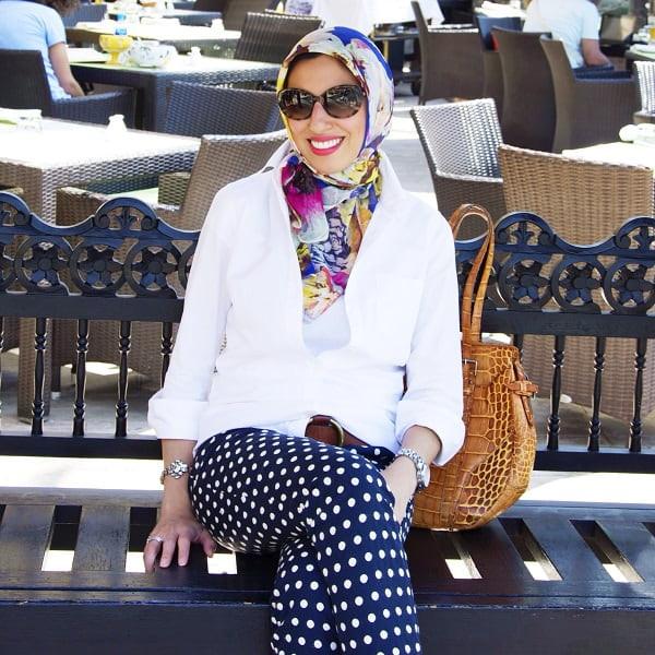 ملابس العيد- لفات الحجاب البسيطة