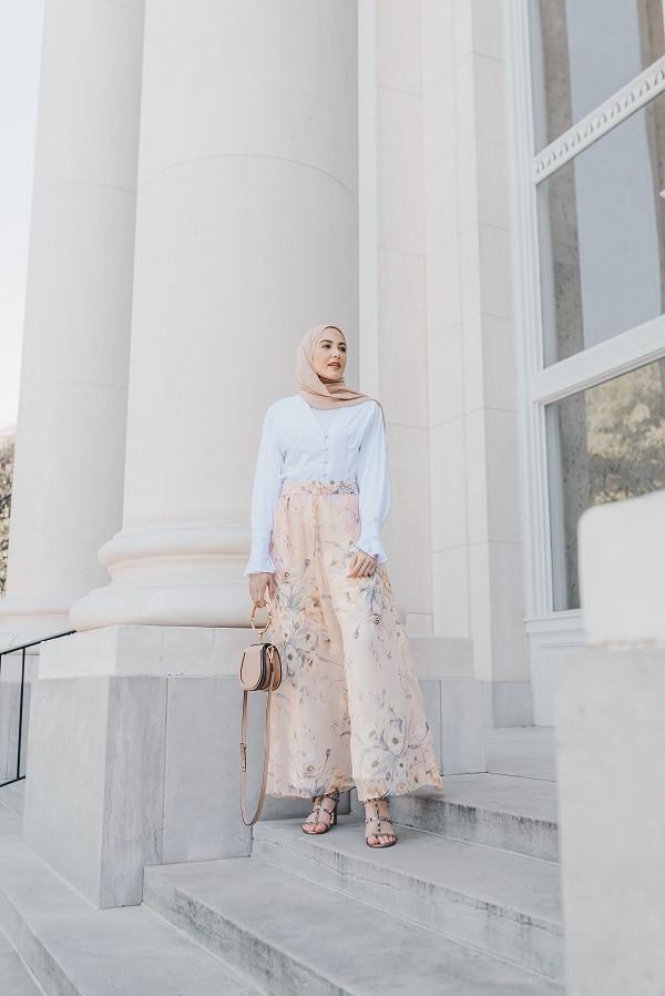 موضة ملابس العيد- البنطلون الواسع