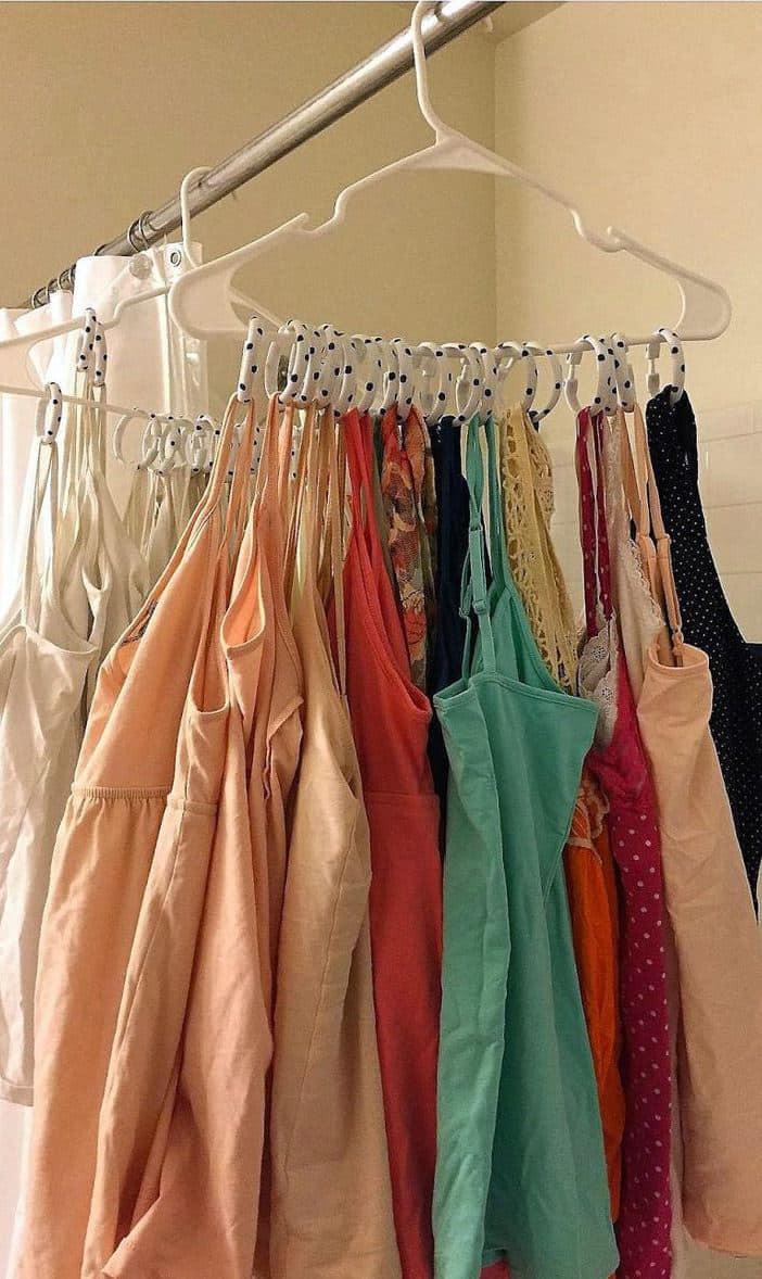 حيل لترتيب المنزل - تنظيم الملابس