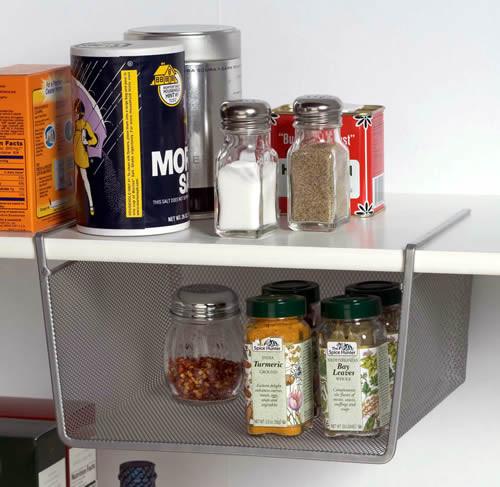 أفكار لترتيب المطبخ-سلال تخزين للأرفف الداخلية