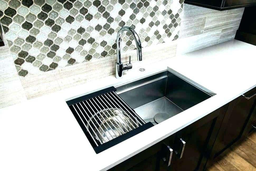أفكار لترتيب المطبخ-مصفاة ستانلس للحوض