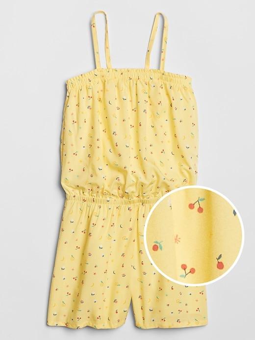 ملابس أطفال صيفي-جمبسوت أصفر بناتي