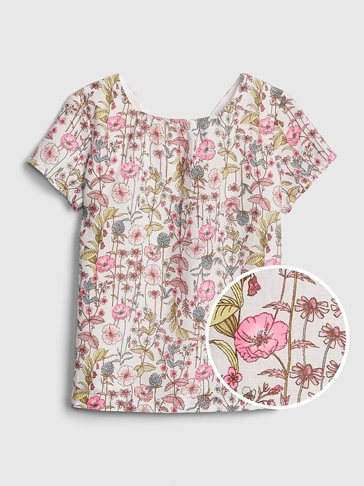 ملابس أطفال صيفي-توب بناتي بالورود