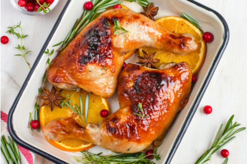 وصفات للرجيم - طريقة عمل دجاج مشوي بالأعشاب وصوص الرتقال