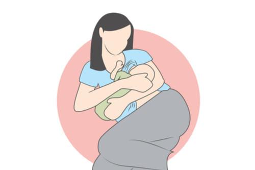 أوضاع الرضاعة الطبيعية - وضع الاستلقاء جانبًا