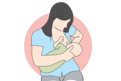 أوضاع الرضاعة الطبيعية - وضع المهد المعكوس