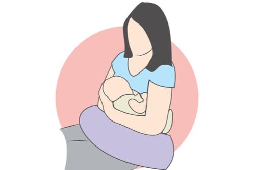 أوضاع الرضاعة الطبيعية - وضع الكرة