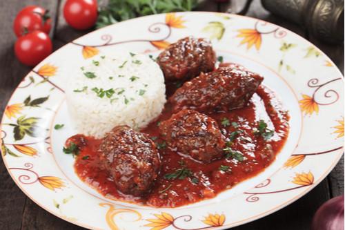 اللحم الجملي - كفتة الأرز المصرية